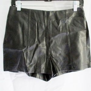 Sparkle & Fade Black Faux Leather Shorts